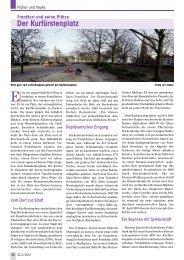 Frankfurt und seine Plätze: der Kurfürstenplatz - Senioren Zeitschrift ...