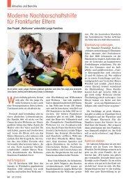 Moderne Nachbarschaftshilfe für Frankfurter Eltern - Senioren ...