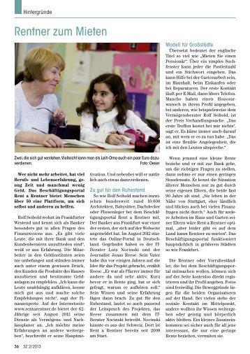 Rentner zum Mieten - Senioren Zeitschrift Frankfurt