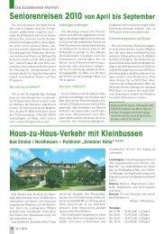 Seniorenreisen - Senioren Zeitschrift Frankfurt