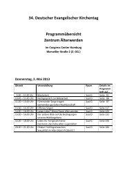 34. Deutscher Evangelischer Kirchentag Programmübersicht ...