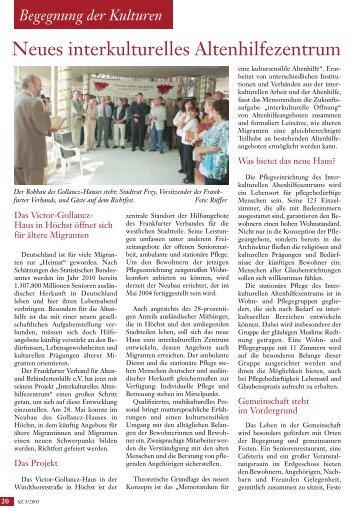 Begegnung der Kulturen: Das Victor-Gollancz-Haus - Senioren ...