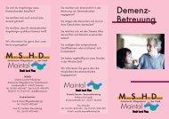 Flyer Demenz-Betreuung - aktive Senioren in Maintal