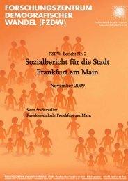 Sozialbericht für die Stadt Frankfurt am Main