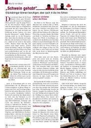 """""""Schwein gehabt"""" - Senioren Zeitschrift Frankfurt"""