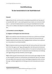 Geschäftsordnung für den Seniorenbeirat in der ... - Seniorenbeirates