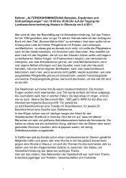 """Referat: """"ALTERSDISKRIMINIERUNG Beispiele, Ergebnisse und ..."""