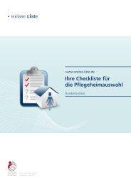 Checkliste für die Pflegeheimauswahl (Standardversion)