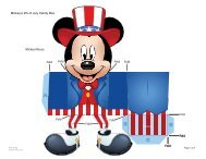 Download Mickey's 4th of July Candy Box Template - Spoonful