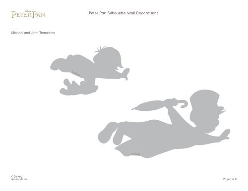 Peter Pan Silhouette Wall Decorations Spoonful