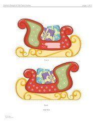 Download Santa's Sleigh & Gift Card Holder Template - Spoonful