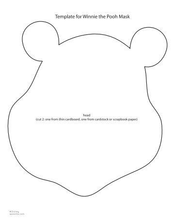 nemo cake template - winnie the pooh mask