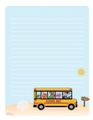 Download Back-to-School Stationery Template - Spoonful
