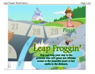 Download Leap Froggin' Game Board (Part 1) - Spoonful