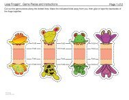 Frogs: Game Pieces & Instructions Template - Spoonful