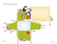 Mickey Mouse Place Card Holder Fold Fold Fold Fold ... - Spoonful