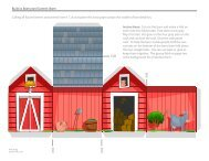 Download Build a Barnyard Scene Paper Craft Template - Spoonful