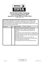 2012 International Technical Regulations (Mini/Micro MAX) - Rotax ...