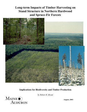 Long-term Impacts of Timber Harvesting on Stand ... - Maine Audubon