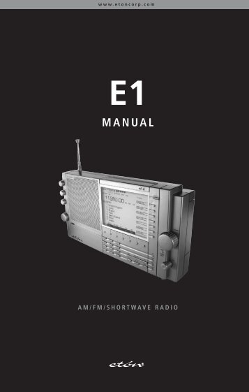 Eton E1 - MANUAL - Monitoring Times