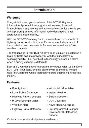 bearcat bct12 - Communications Electronics Inc.