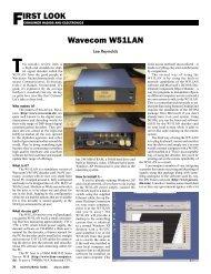 FIRST LOOK Wavecom W51LAN - Monitoring Times