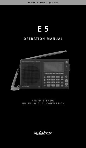 OPERATION MANUAL - Monitoring Times