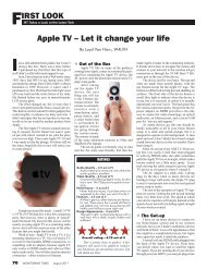 FIRST LOOK Apple TV – Let it change your life - Monitoring Times
