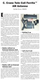 Twin Coil Ferrite AM Antenna Review - C. Crane Company