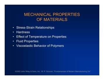 MECHANICAL PROPERTIES OF MATERIALS - FKM