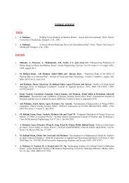 PUBLICATIONS Thesis Journals - FKM - Universiti Teknologi Malaysia