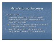 Manufacturing Processes - FKM