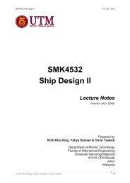 SMK4532 Ship Design II - FKM - Universiti Teknologi Malaysia
