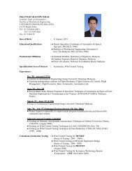 ISKANDAR SHAH BIN ISHAK Lecturer, Dept. of Aeronautics Faculty ...