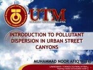 STREET CANYON CHARACTERISTICS - FKM