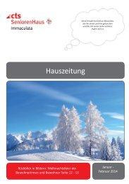 Hauszeitung Immaculata 01-2014.indd - SeniorenHaus Immaculata