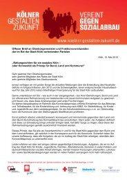 Offener Brief an Oberbürgermeister und Fraktionsvorsitzenden der ...