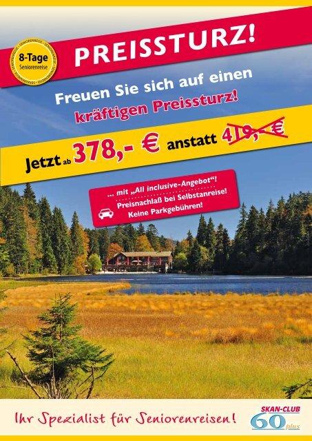 8 Tage Seniorenreise Bayerischer Wald - Kurzurlaub Spezial