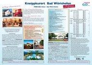 Kneippkurort Bad Wörishofen - Seniorenreisen