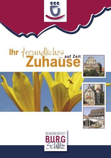 Flyer: Kurzzeitpflege - Seniorenstift Burg Schlitz