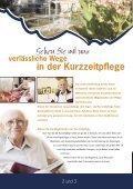 Flyer: Kurzzeitpflege - Seniorenstift Burg Schlitz - Seite 2