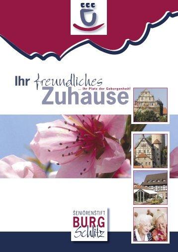 Ihr freundliches - Seniorenstift Burg Schlitz
