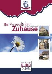 Flyer: Langzeitpflege - Seniorenstift Burg Schlitz