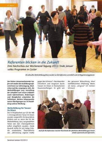 Referenten blicken in die Zukunft - Bundesverband Seniorentanz eV