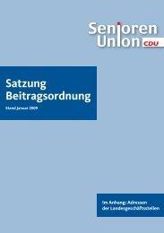 Stand Januar 2009 - Seniorenunion Berlin