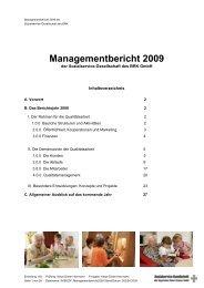 Managementbericht 2009 - Sozialservice-Gesellschaft des BRK