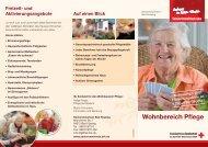 Wohnbereich Pflege - Sozialservice-Gesellschaft des BRK