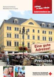 Preisliste - Sozialservice-Gesellschaft des BRK