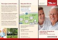 Besuchen Sie uns Ambulanter Pflegedienst Kieferngarten Das ...