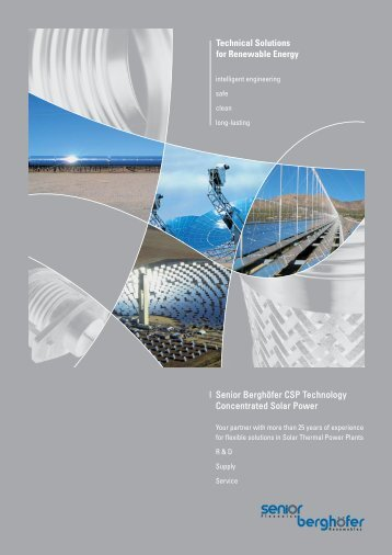 Senior Berghöfer CSP Technology Concentrated Solar Power
